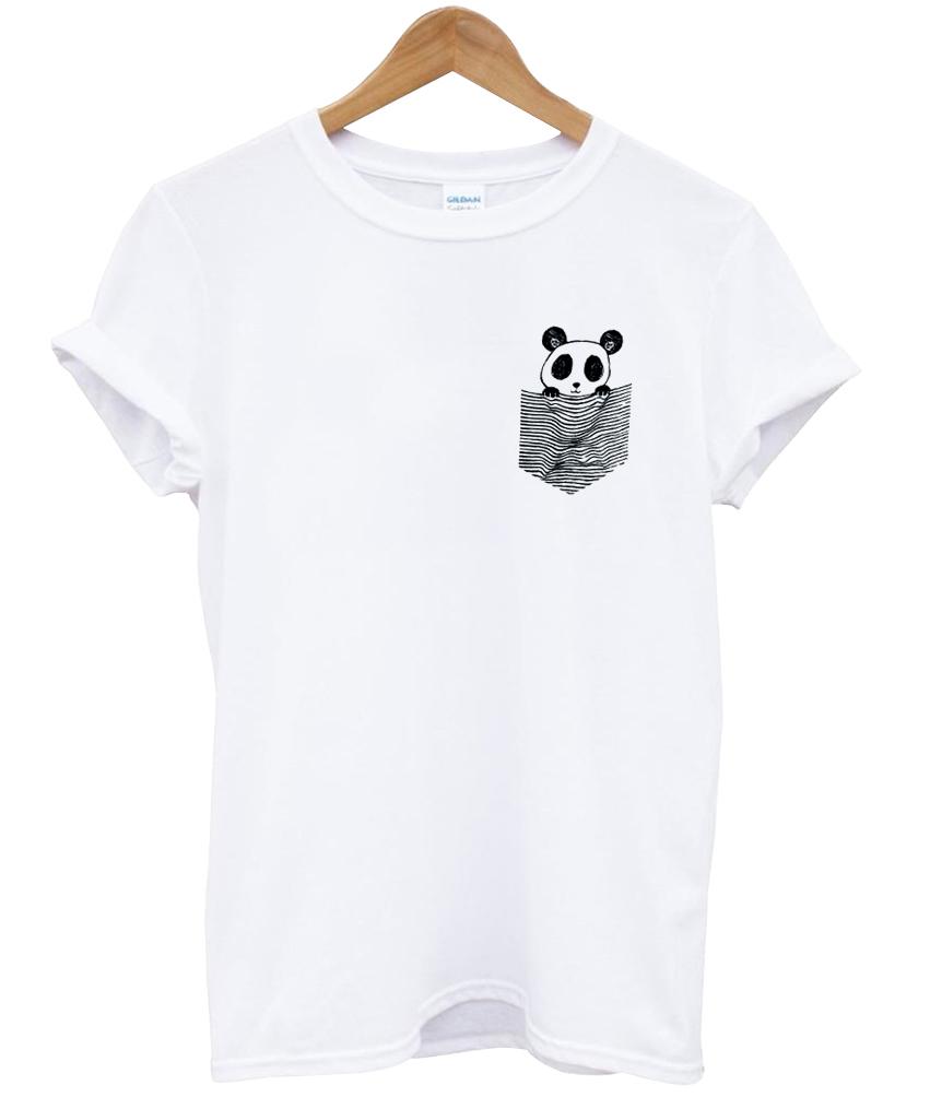 panda pocket t shirt