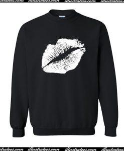 White Lips Sweatshirt