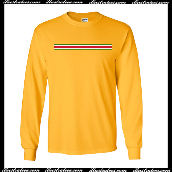 Yellow Stripe Colors Sweatshirt