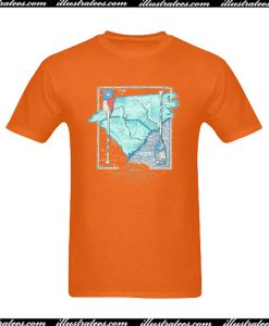 Southern Marsh River Routes NC And SC T-Shirt Back