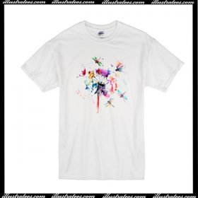 Dragonfly And Flower T-Shirt