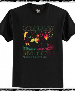 2012 Australian Tour Coldplay T Shirt