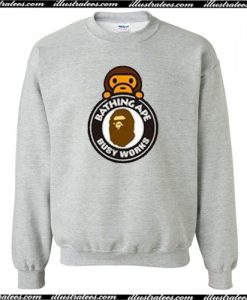 A Bathing Ape Milo On Busy Works Sweatshirt