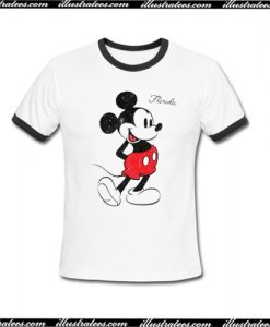 Mickey Mouse On Florida Ringer T-Shirt