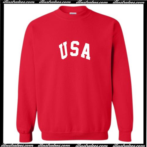 USA Font Sweatshirt