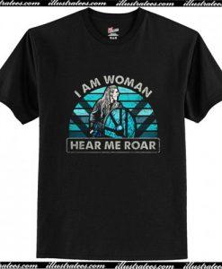 Viking Shield-maiden I Am Woman Hear Me Roar T Shirt