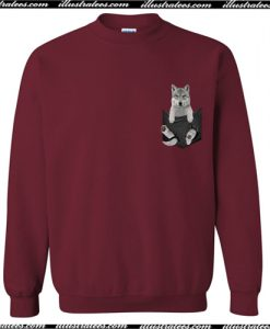 Wolf In Pocket Sweatshirt