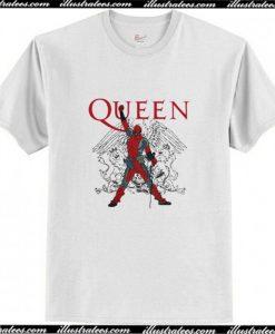 The Queen Deadpool Freddie Mercury T Shirt