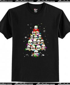The Twinkle Of Skull Christmas Tree T Shirt