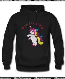 Wineicorn Unicorn Wine Lover Hoodie Ap