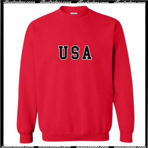 USA Red Sweatshirt Ap