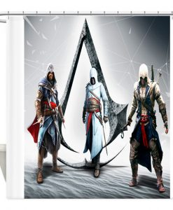 Assassins creed Game shower curtain customized design for home decor AI