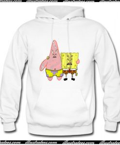 Spongebob And Patrick with Beavis and Butt-Head face Hoodie AI