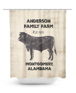 anderson family farm est 1910 shower curtain AI