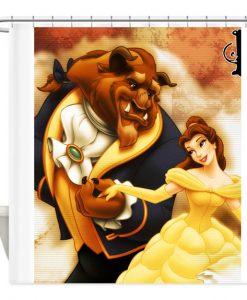 beast Beauty Disney shower curtain customized design for home decor AI