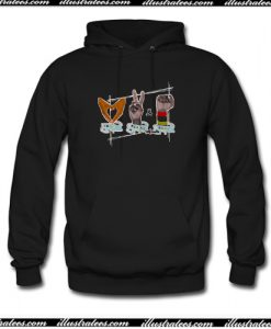 African American Love Peace & Soul Sign Hoodie AI