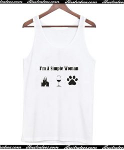 Wine Disney Castle Dog Love I'm A Simple Woman Tank Top AI