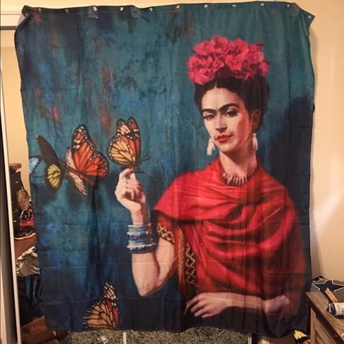 Frida- Kahlo shower curtain-AI
