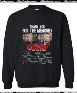 Thank You for the Memories Avengers 2008 2019 Sweatshirt AI