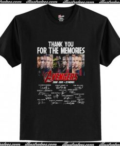 Thank You for the Memories Avengers 2008 2019 T Shirt AI