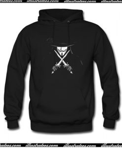 Vendetta Man With Knifes Hoodie AI
