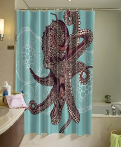 Amazing Octopus Shower Curtain AI