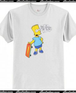 Vintage 1989 Bart Simpson Who the Hell are You T Shirt AI