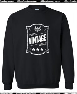 Vintage Authentic Est Trending Sweatshirt AI