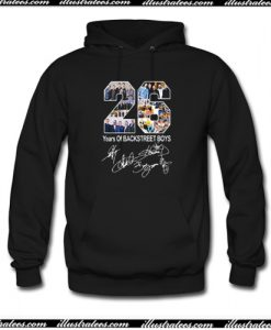 26 Years of Backstreet Boys All Signatures Hoodie AI