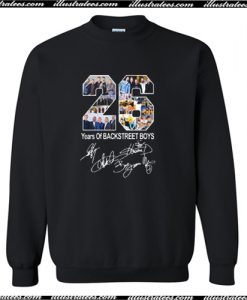 26 Years of Backstreet Boys All Signatures Sweatshirt AI
