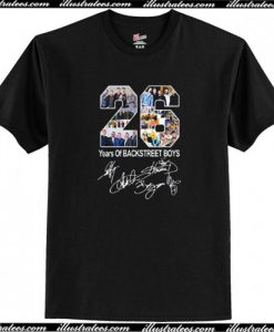 26 Years of Backstreet Boys All Signatures T-Shirt AI
