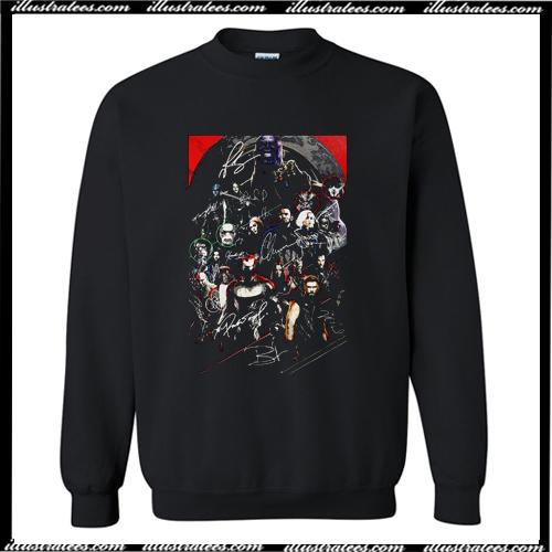 Marvel Avengers Endgame Poster Character Signature Sweatshirt AI