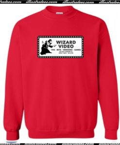 Wizard Video (new) Crewneck Sweatshirt AI