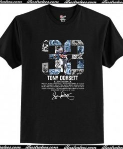 33 Tony Dorsett Running Back Signature T-Shirt AI