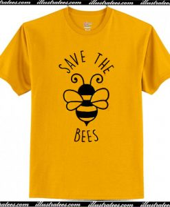 Save The Bees Clothing T-Shirt AI