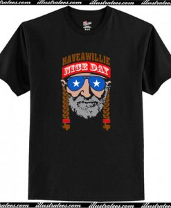 Willie Nelson Have A Willie Nice Day T-Shirt AI