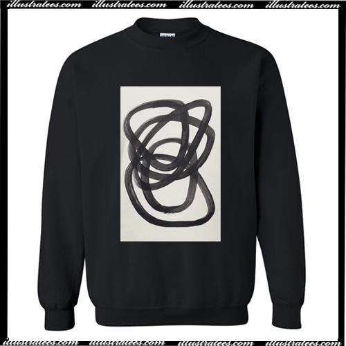 Mid Century Modern Minimalist Abstract Art Sweatshirt Ai