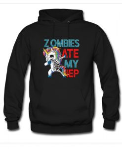 Zombies Ate My IEP Unicorn Funny Teacher Hoodie AI