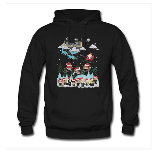 Harry Potter and Santa Claus Christmas Hoodie AI