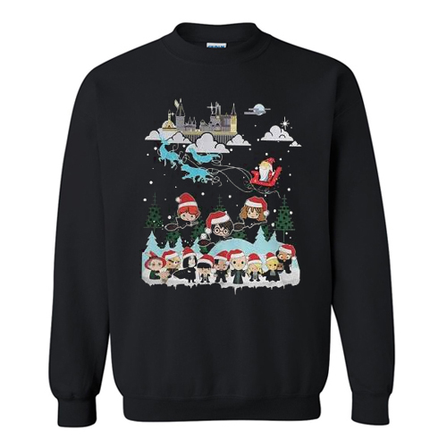 Harry Potter and Santa Claus Christmas Sweatshirt AI