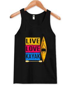 Live Love Kayak Tank Top AI
