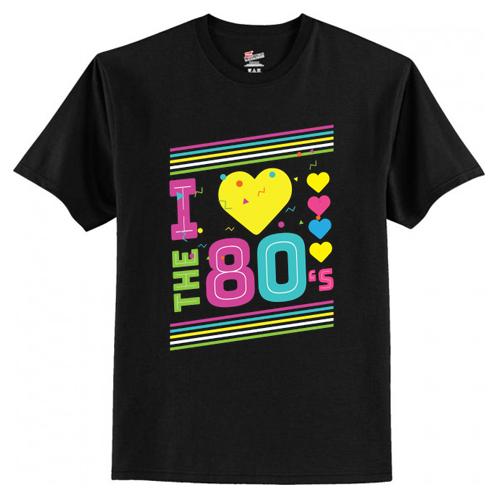 Love The 80s Apparel Disco T-Shirt AI
