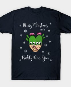 Merry Christmas And A Prickly New Year T-Shirt AI