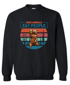 Save Animals Eat People Sweatshirt AI