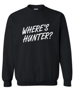 Where's Hunter Sweatshirt AI