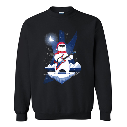 XM Rocking PolarBear Sweatshirt AI