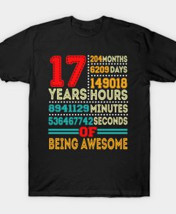 17 Years Happy Birthday To You T-Shirt AI