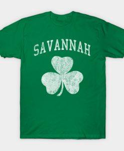 Savannah Georgia Irish Shamrock T-Shirt AI