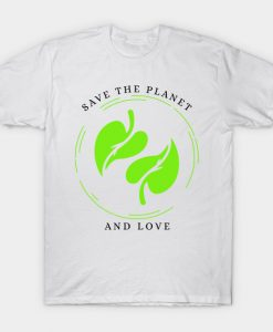 Save our Planet T-Shirt AI
