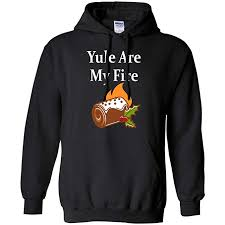Yule Are My Fire Crewneck Hoodie AI